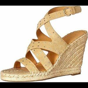 JOIE Korat Studded Wedge Espadrille Sandal Size 10